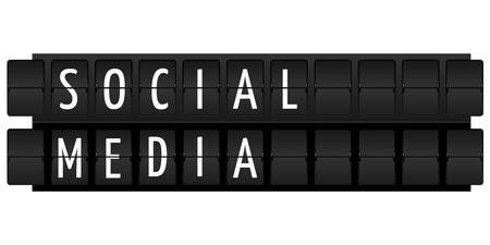weblogs: social media text in table style illustration