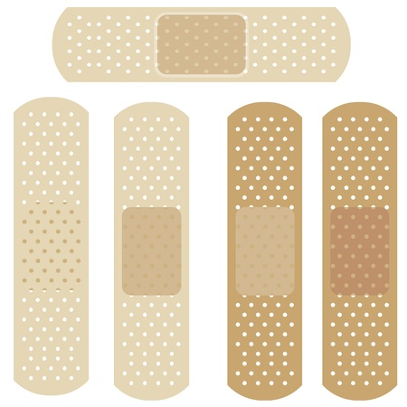 adhesive plaster: different bandages