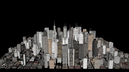 city concept with skyline buildings Stock Photo - 12651761