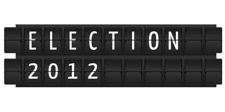 Election 2012 text in table style