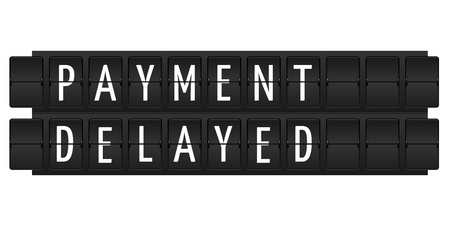 Payment delayed text in table style