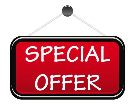 offerta speciale: Offerta speciale tabellone ilsolated su bianco Vettoriali