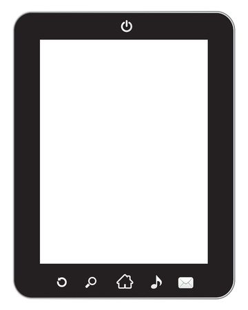 black tablet pc on white background Stock Vector - 12865650