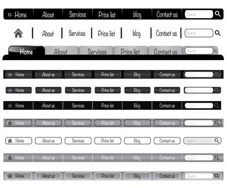 Web elements vector navigation menu bar for website-menu bar can be re-size to any limit Illustration