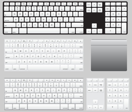 Vector computer keyboards and track pad - Image can be re-size to any limit