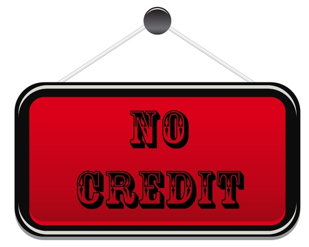 no credit text on red background Stock Vector - 12865659