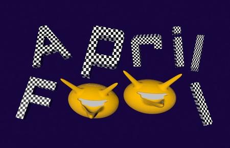 pranks: April fool 3d render illustration