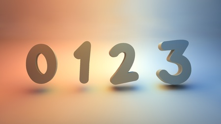 numerical 0123 on white background Stock Photo - 12986308