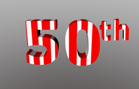 colorful checkered 3d  anniversary number - 50th Stock Photo - 12986314