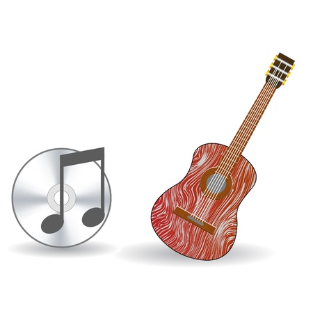 stratocaster: Guitar and music icon vector Illustration
