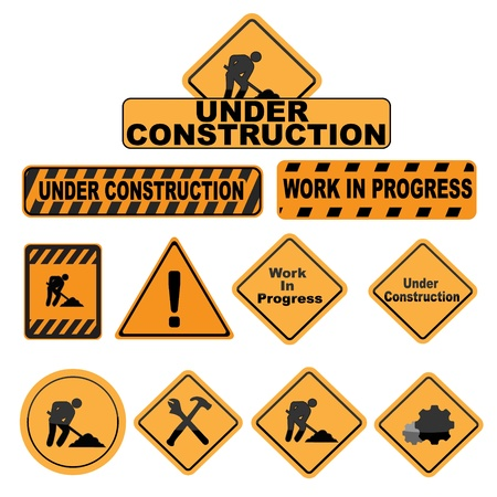 Under construction signs - images can be re-size to any limit Stock Vector - 13617647