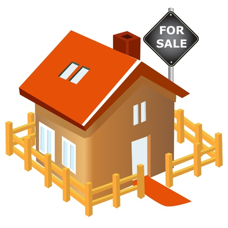 for rent: House with sale sign board
