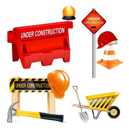 Under construction icons - images can be re-size to any limit Stock Vector - 13617652