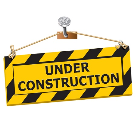 Under construction sign - image can be re-size to any limit Vetores