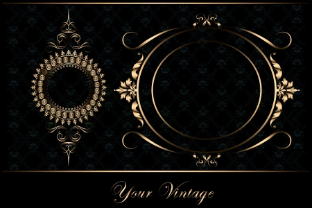 calligraphy golden frame