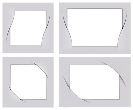 Photo frame corners set, image can be re-size to any limit Vector