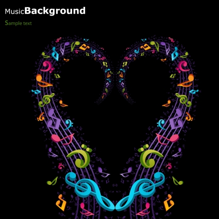 resize: Colorful music background - image can be re-size to any limit
