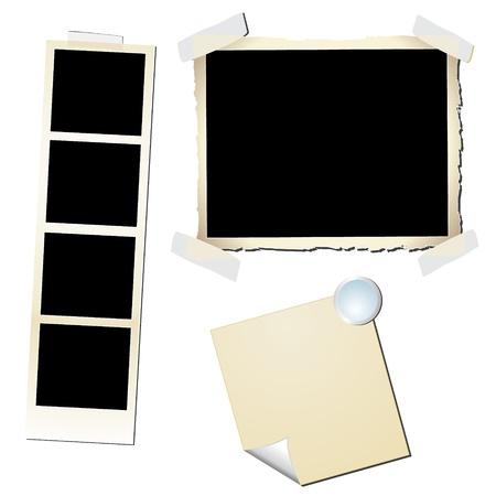 marco blanco y negro: Vintage Photo Frames - imagen puede ser cambiar el tama�o a cualquier l�mite Vectores