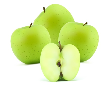 mellow: Green apples with sliced apple