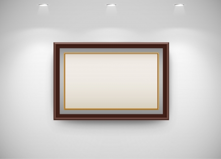 Photo frame on wall  Vector