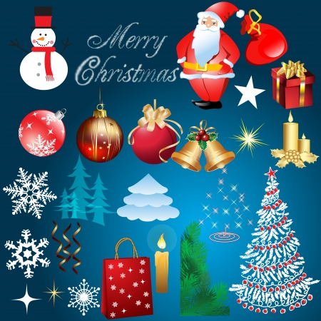 Christmas design elements - fully editable