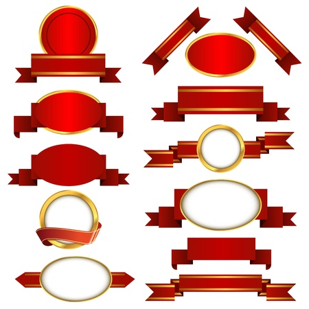 Set of banners and ribbons Stock Vector - 13907077