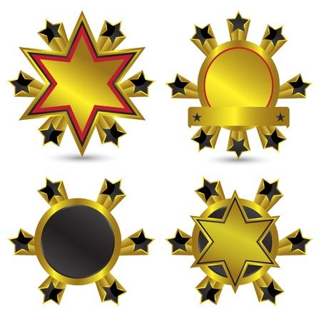 Vector ornamental label