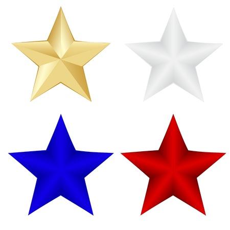 Stars on white background