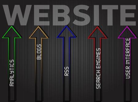Vector website diagram concept