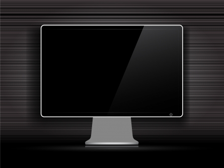 Black monitor screen with abstrsact background Illustration
