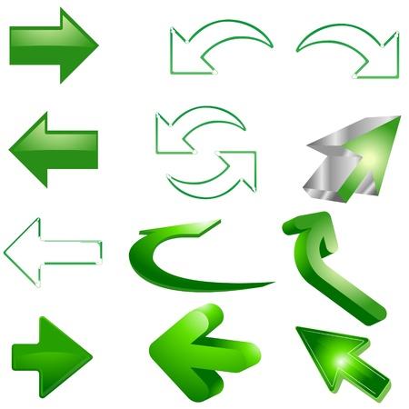 Green Arrows Illustration