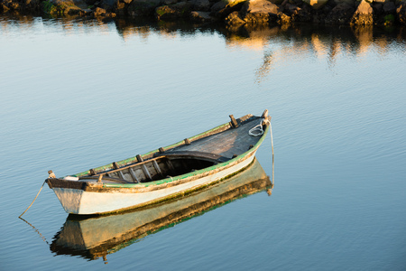 Boat on quiet water