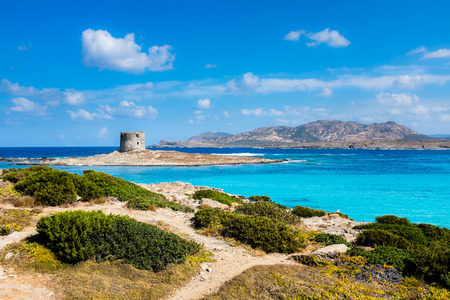 La Pelosa Beach, Sardinia Stock Photo - 123322058