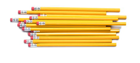 Number Two Pencils on White photo