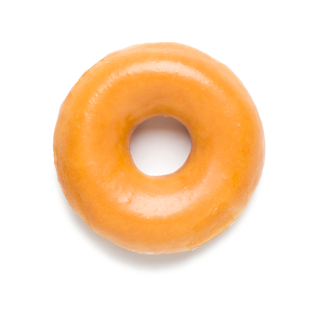 Glazed Donut on White