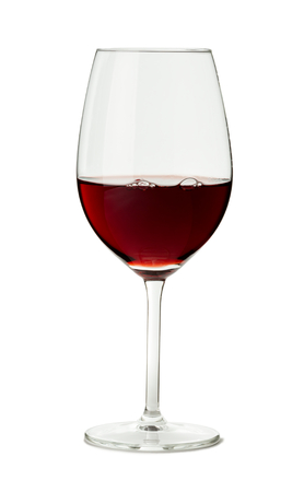pinot noir: Glass of Red Wine on White