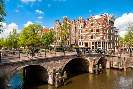 clr: Amsterdam Leaning Buildings and Canals