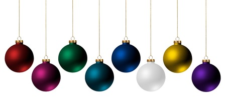christmas  ornament: Christmas Ornaments Isolated on White