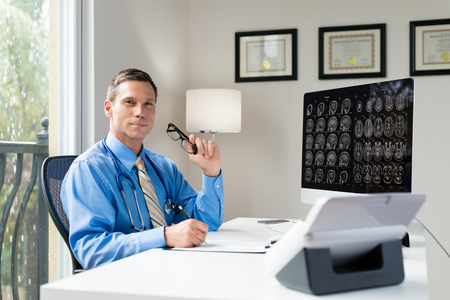 oncologist: Doctor in Office