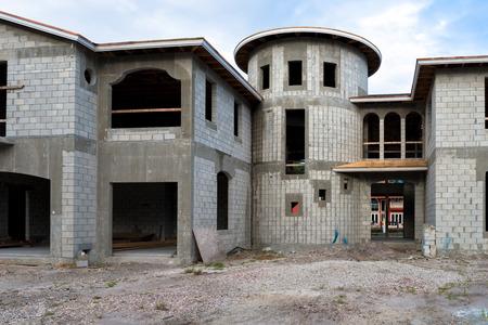 Mansion Home Under Construction Фото со стока - 34540570