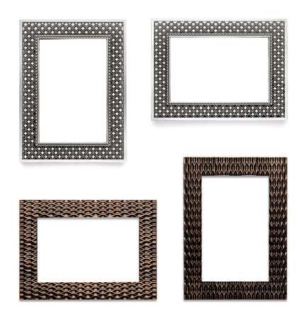 Picture Frames Isolated on White Background Фото со стока - 34552000