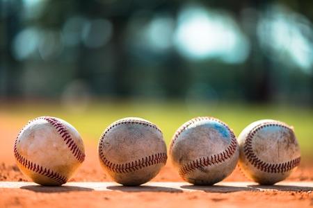 campo de beisbol: B�isbol en el mont�n de jarras Foto de archivo