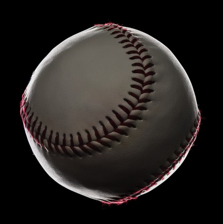 Baseball Close Up Isolated on Black Background Фото со стока - 35350328