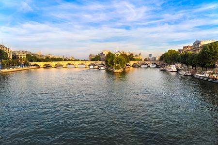 The Ile de la Cite in Paris, France