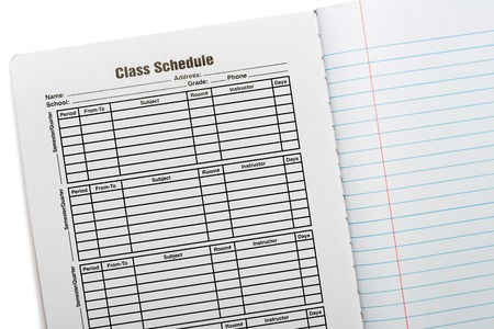 school schedule: Composition Book School Schedule