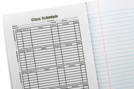 composition: Composition Book School Schedule