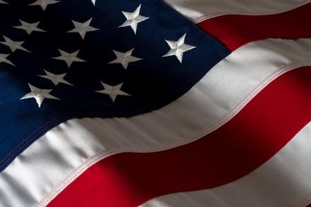Close Up American Flag Фото со стока