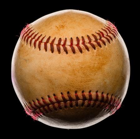 Baseball Isolated on Black Background Фото со стока - 37407739