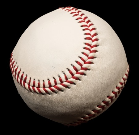 Baseball Isolated on Black Background