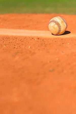 baseball field: Baseball on Pitchers Mound